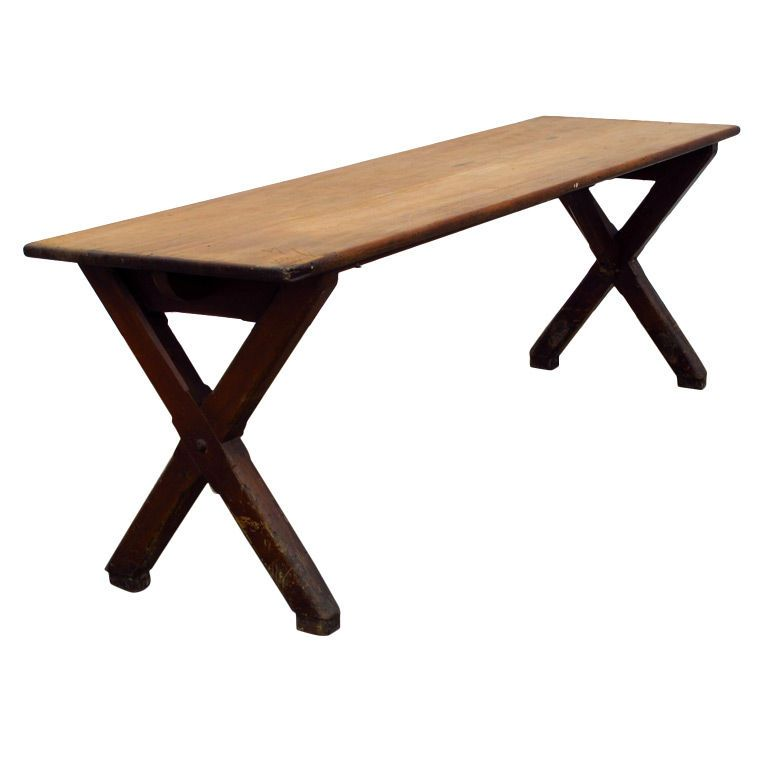 Perfect French Trestle Table