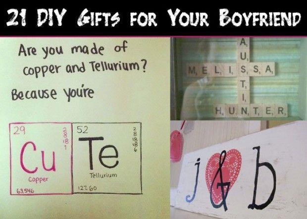 21 DIY Gifts for Your Boyfriend - Snappy Pixels | Artisanat et mod ...
