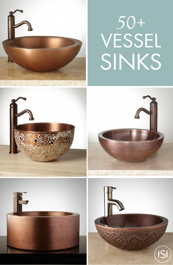 Add One Of These Stunning Vessel Sinks From Signature Hardware To Impressive Sink Bowl Bathroom Design Inspiration