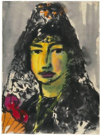 EMIL NOLDE Spanisches Mädchen (Spanish Maiden, 1921)