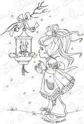 New Little Cottage Cuties Two Turtle Doves Whimsy Stamps Christmas Coloring Pages Color Pencil Art
