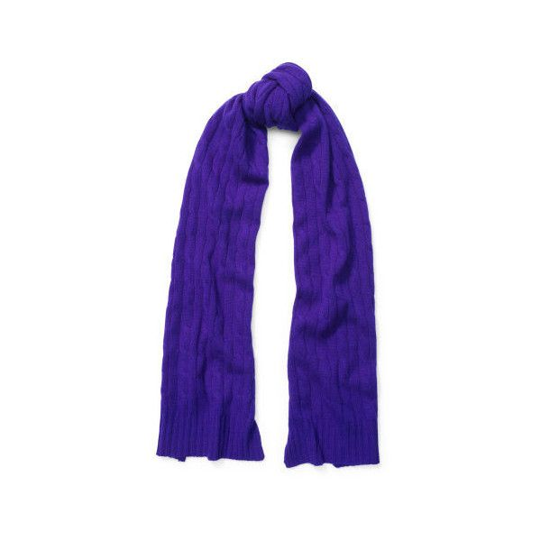 8a097a09ad1 Polo Ralph Lauren Cable-Knit Cashmere Scarf ( 198) ❤ liked on Polyvore  featuring accessories