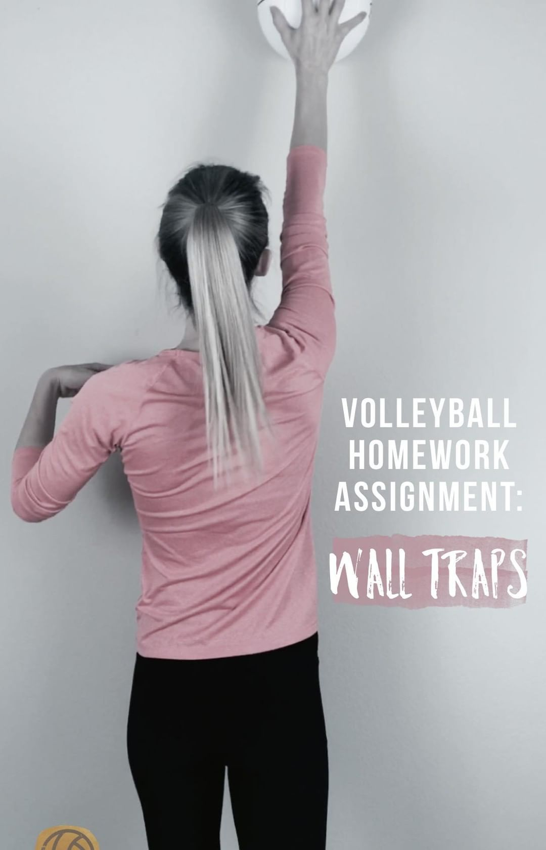 At Home Volleyball Drill Wall Traps Kids Volleyball Volleyball Serve Volleyball Drills