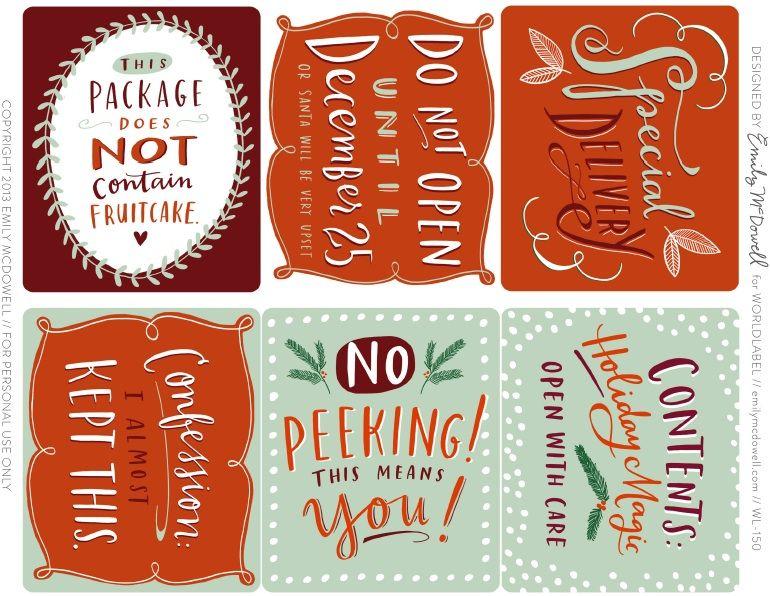 Favorite pinterest holiday pins christmas labels free printable favorite pinterest holiday pins christmas gift tagschristmas negle Choice Image