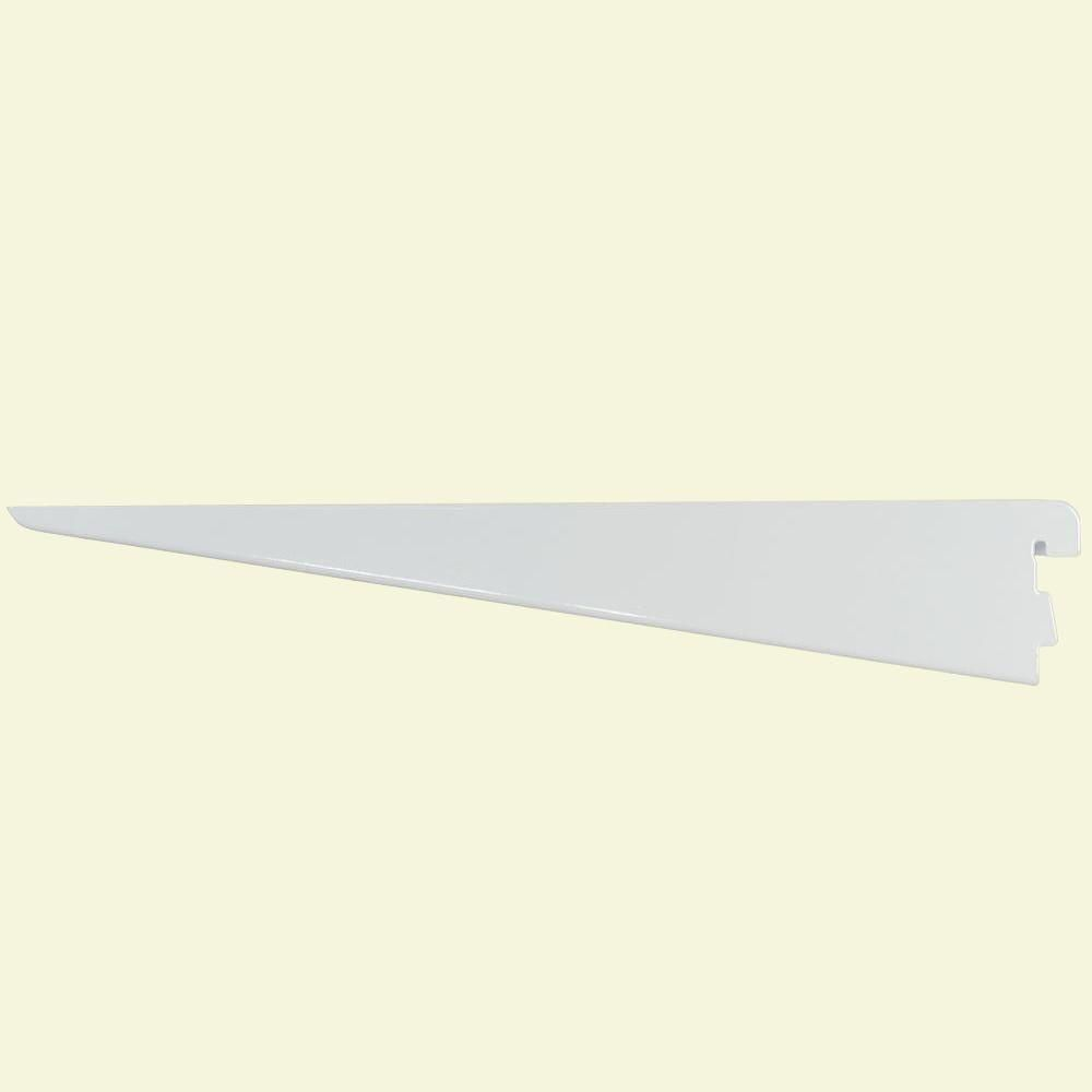 Rubbermaid 11 5 In White Twin Track Bracket For Wood Or Wire Shelving Fg4c0502wht The Home Depot Wire Shelving Rubbermaid Track Shelving