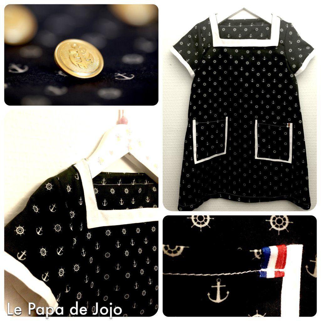 6128809fa68a3 Une petite robe marine pour enfant !  prototype  enfant  modeenfant   fashion  couture