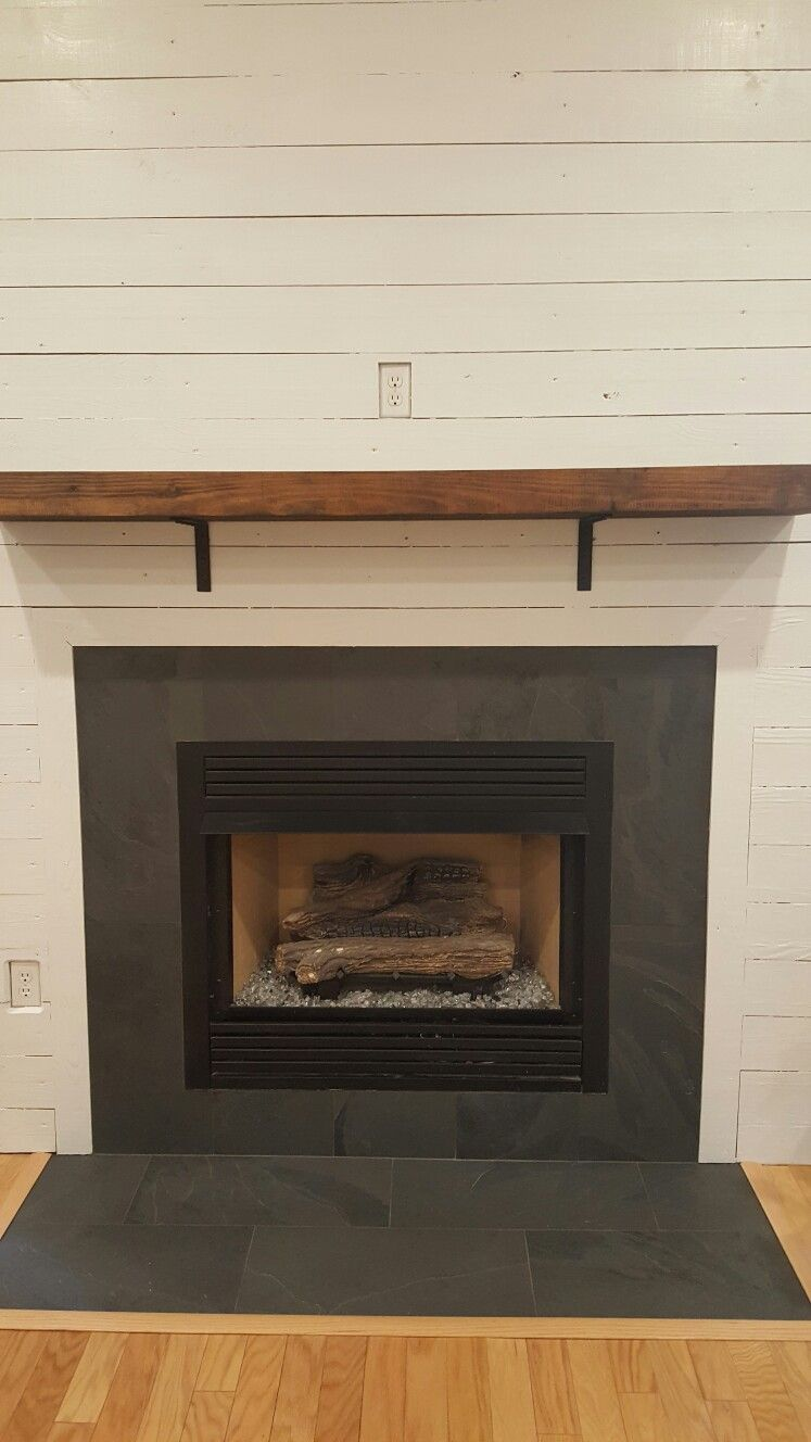 Black Slate And Shiplap Slate Fireplace Marble Fireplace Surround Slate Fireplace Surround