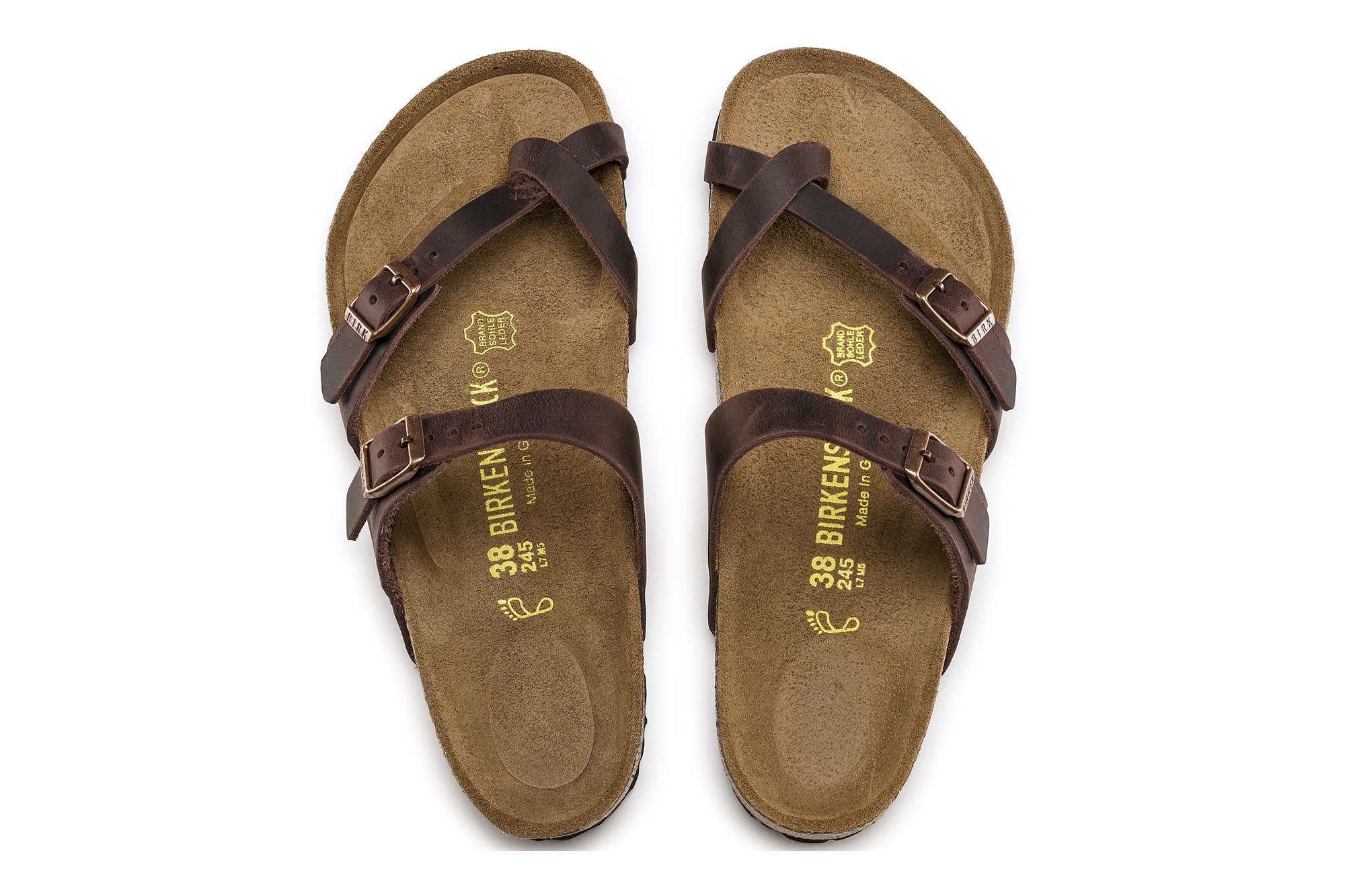Birkenstock Oiled Leather Mayari Sandal In Havana Brown Color Size 41 125 00