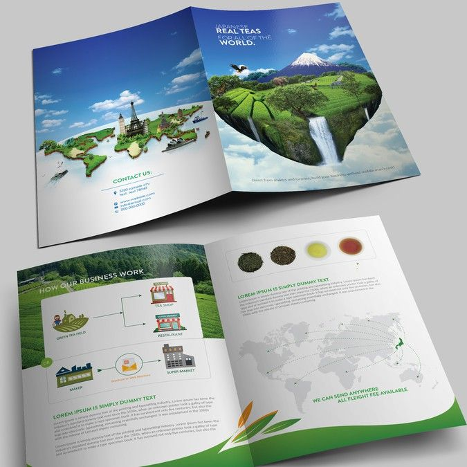 Design Japanese tea brochure by Arttero Advertising Design - law firm brochure