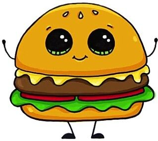 Hamburger | Art/Drawings | Pinterest | Hamburgers, Kawaii ...