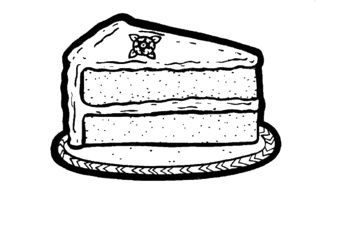 One Piece Slice Cake Coloring Pages Cookie Coloring Pages Kidsdrawing Free Coloring Pages Onli Coloring Pages Coloring Pages For Kids Free Coloring Pages
