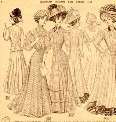 simple haircut designs newspaper insert of fashions for 1908 dress with s 1908 | ef0871f153ed2d6e7f102dd0940db585