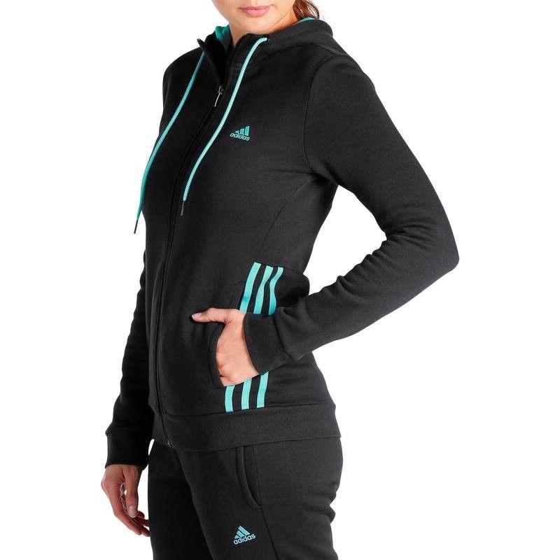 Deportes Fitness Fin de temporada - Chaqueta capucha fitness mujer ADIDAS -  Por categoría f42c706e28a03
