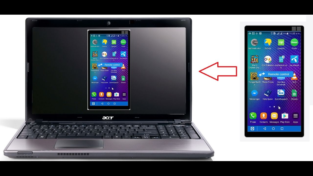 How to get mobile display on your computer laptop