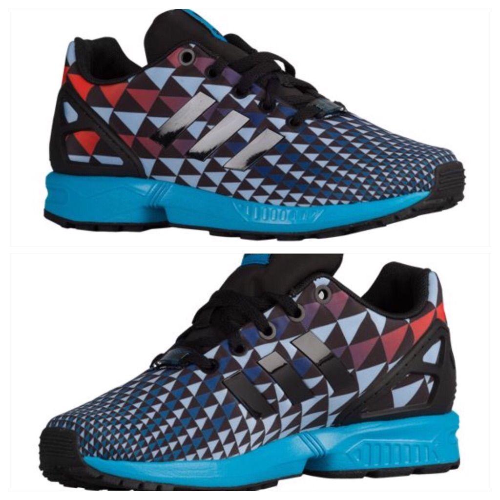 competitive price 26807 7e43b Adidas Shoes   Bnwot Adidas Originals Zx Flux Boys Size 5   Color  Black  Blue   Size  7