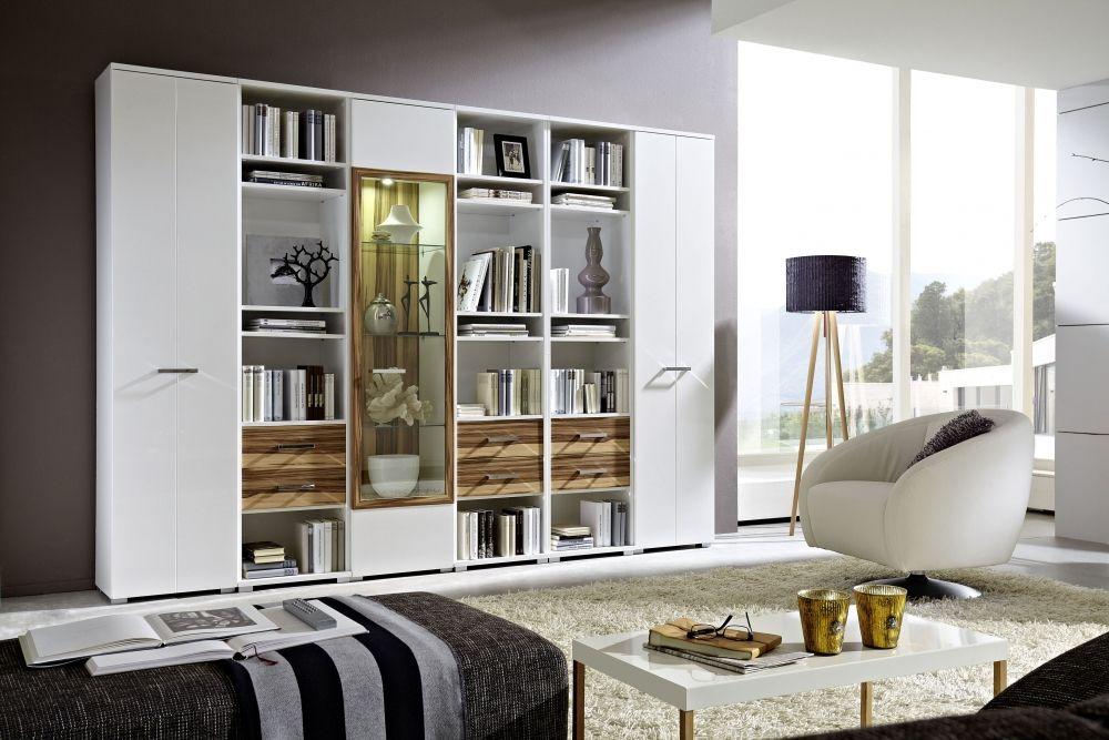 CHITA Wohnwand II Weiß Hochglanz Weiß Baltimore #leseraum - wohnzimmer wohnwand weis