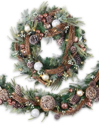Artificial Christmas Wreaths.French Country Foliage French Country Theme Christmas