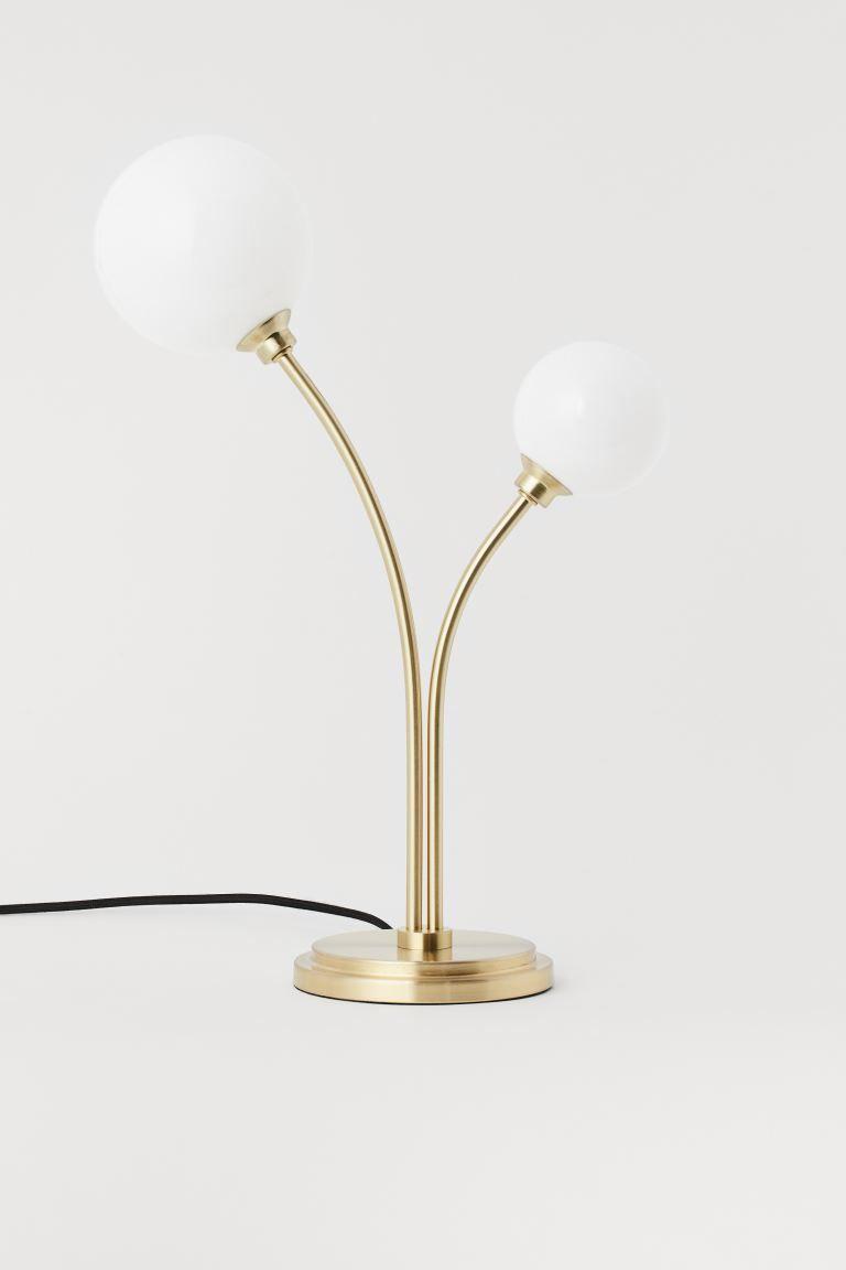 Metal Table Lamp Gold Coloured H M Gb In 2020 Metal Table Lamps Gold Table Lamp Table Lamp