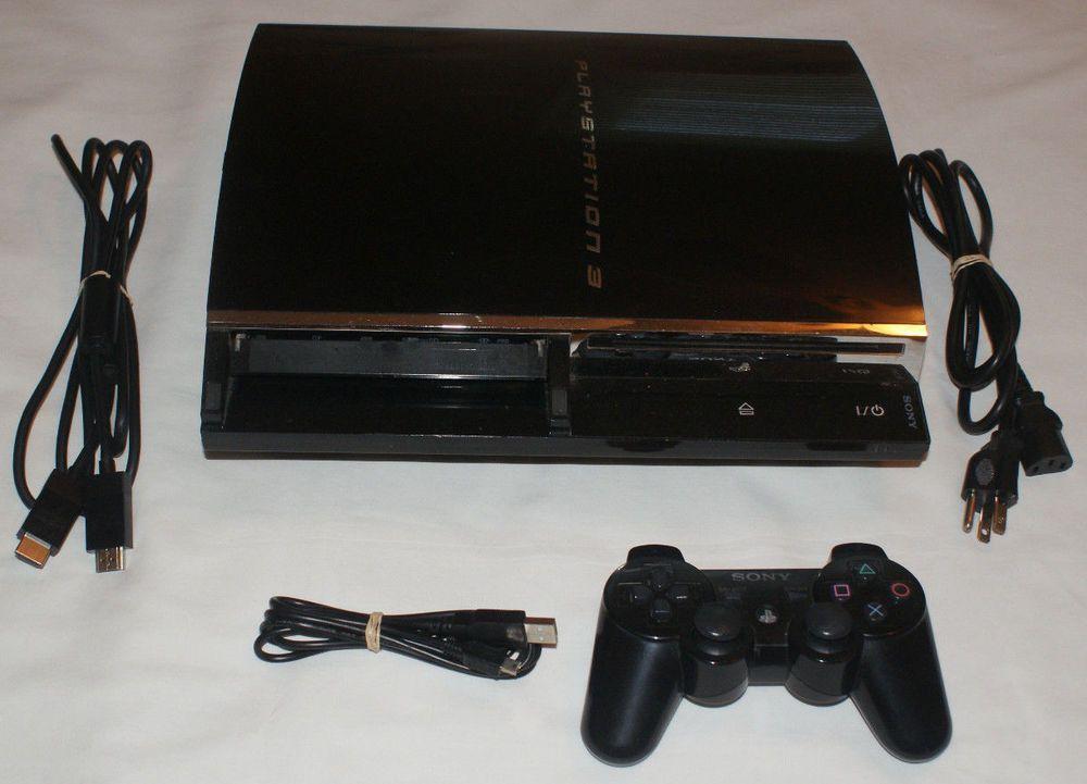 Sony Playstation 3 Fat 60GB CECHA01 PS3 Console Bundle