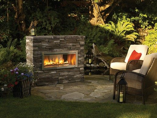 free standing outdoor gas fireplaces