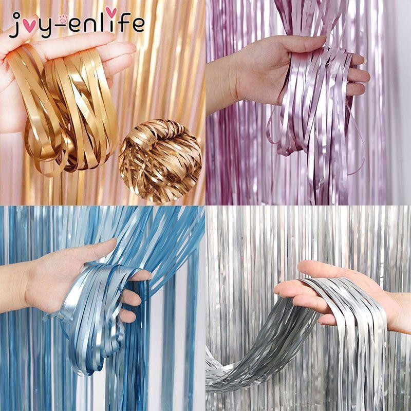 1x2m Matte Gold Sliver Wedding Backdrop Curtain Metallic Foil