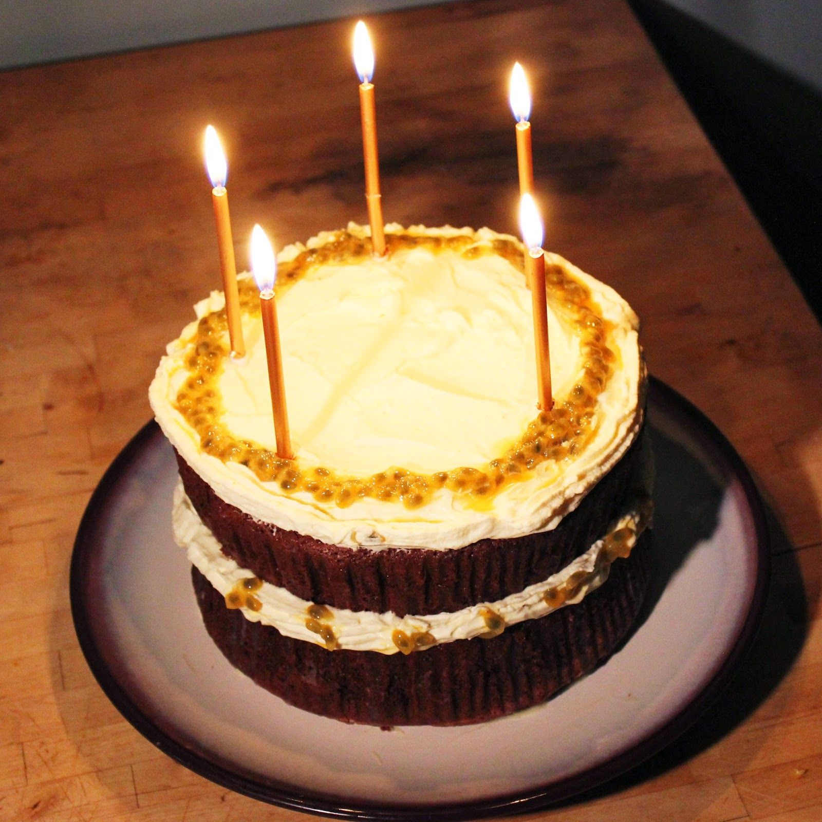 Double Chocolate Passion Fruit Cake (birthday appropriate ...