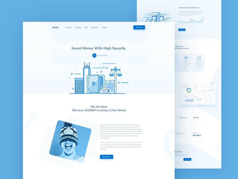 Investment web template web template investing templates