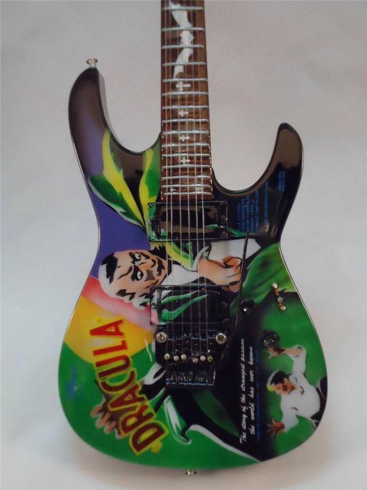 920c7f0ec17 Kirk Hammett Miniature Dracula Guitar Mini Axe Heaven Guitar Metallica