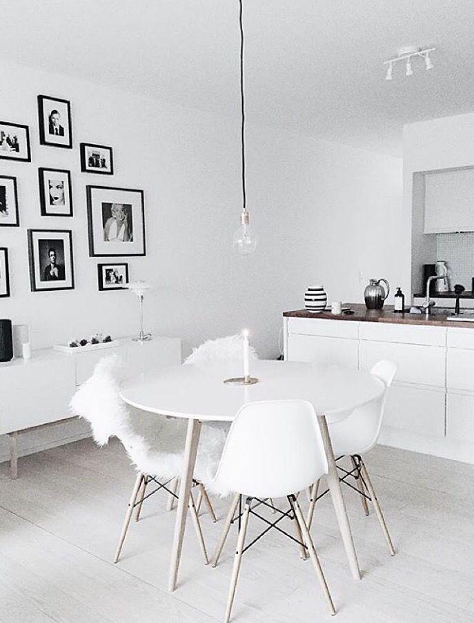 stilvolle essgruppe f r dein esszimmer oder k che in wei esszimmer pinterest. Black Bedroom Furniture Sets. Home Design Ideas