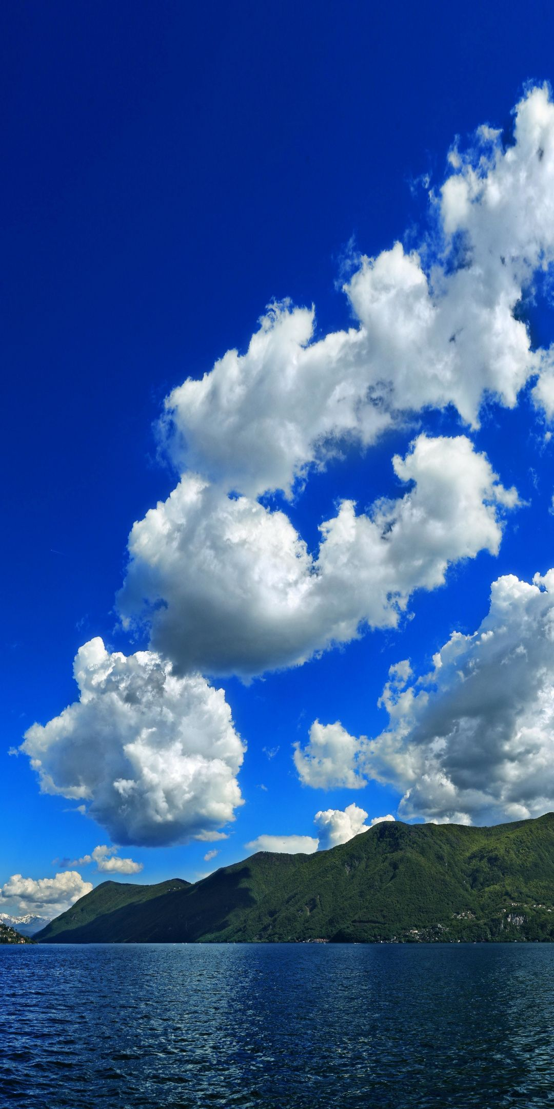 White Clouds Blue Sky Mountains Sea Nature 1080x2160 Wallpaper Beautiful Photos Of Nature Blue Sky Clouds Clouds