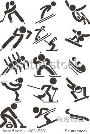 2014年冬季运动图标-符号/标志,运动/娱乐活动-海洛创意(HelloRF)-Shutterstock中国独家合作