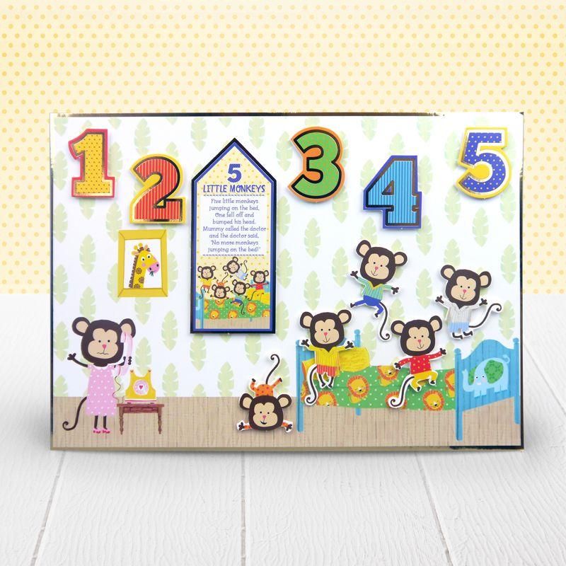 Five Little Monkeys Hunkydory Little Dudes Topper Set