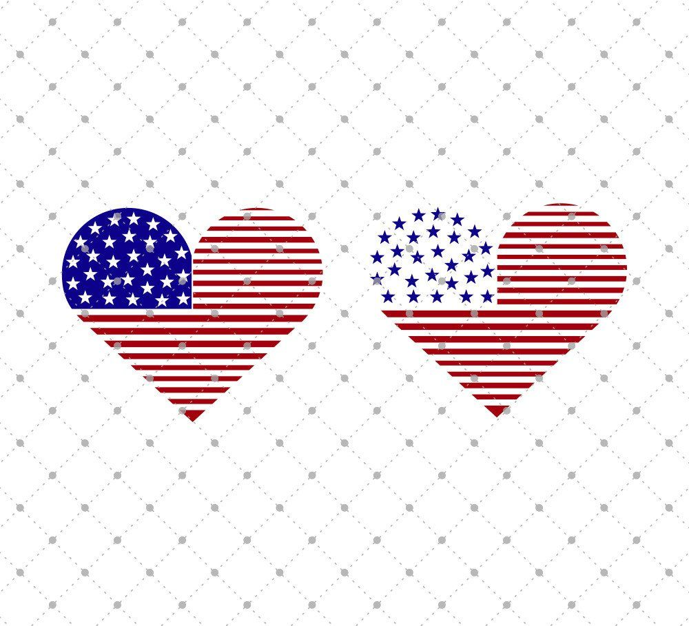 843f80c02b6 American Flag Heart SVG Cut Files for Cricut and Silhouette