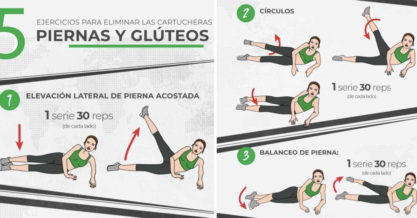 21 Datos gráficos que te ayudarán a poner duros tus abs, piernas y trasero