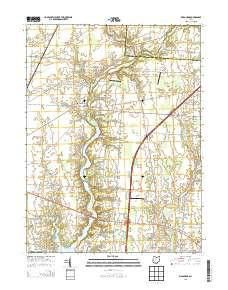 Kilbourne Oh Topo Map 1 24000 Scale 7 5 X 7 5 Minute Historical 2013 West Map Map Topographic Map