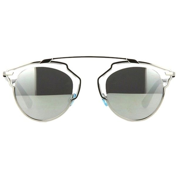 d4b7d93f7520 Pre-owned Dior So Real Sunglasses In Silver Chrome (580 CAD) ❤ liked on  Polyvore featuring accessories, eyewear, sunglasses, silver chrome, ...