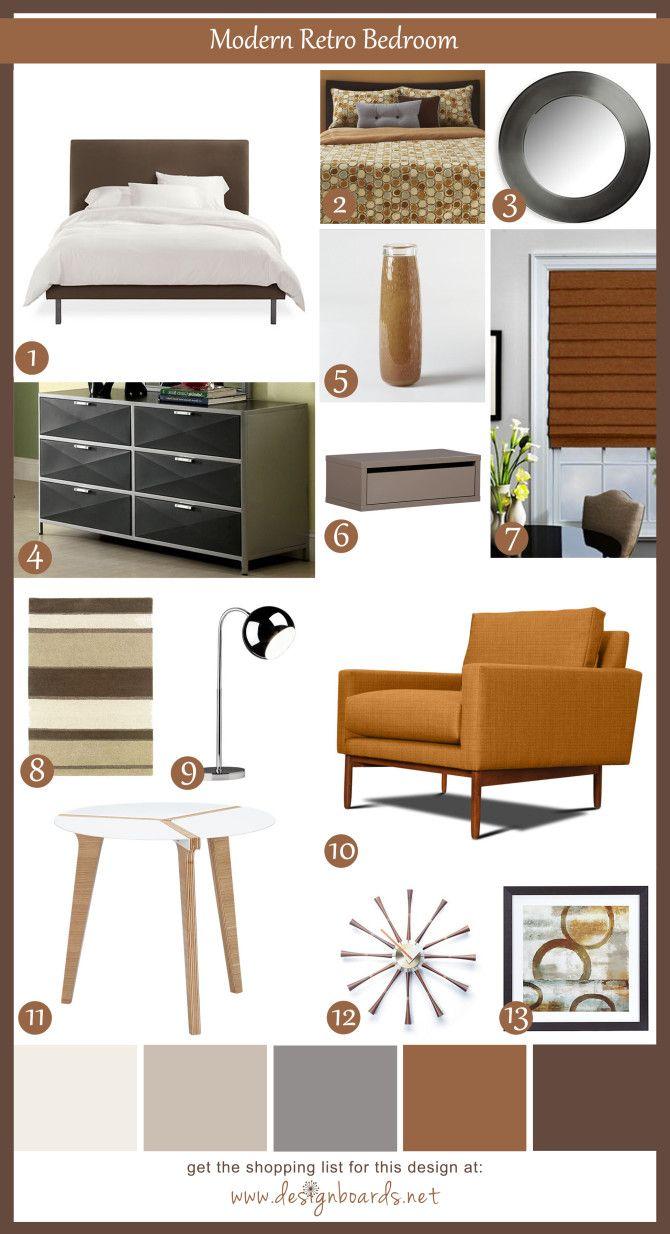 Retro Bedroom Design Delectable Modern Retro Bedroom 1  Design Boards  Urban Living  Pinterest Decorating Inspiration