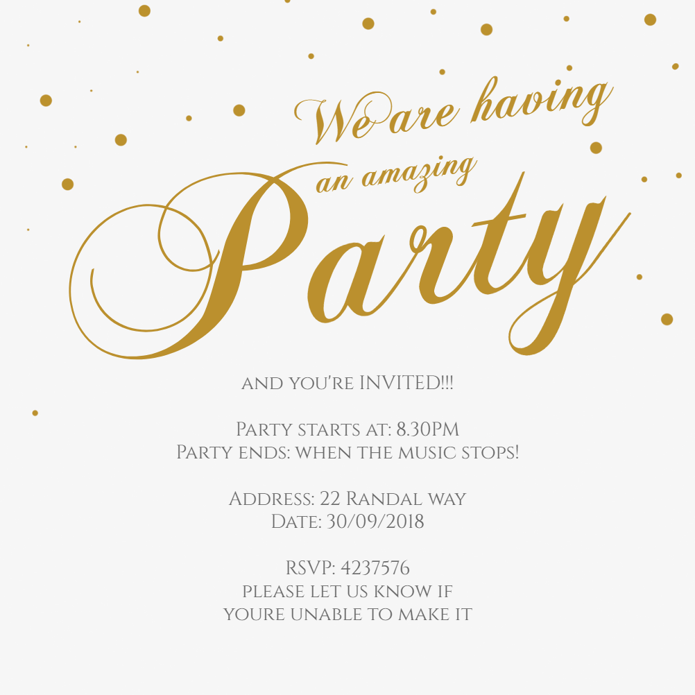 fancy font party free printable party invitation template