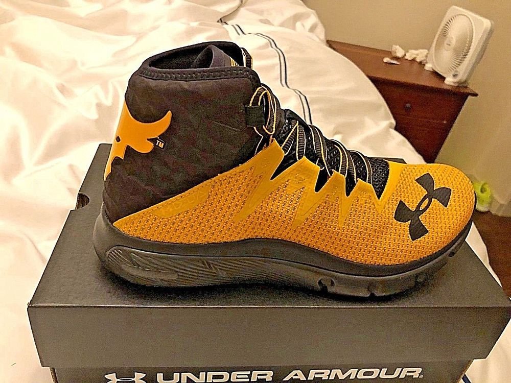 the best attitude d6b70 d2ee4 UNDER ARMOUR PROJECT ROCK DELTA SHOES,NIB,DS,YELLOW,SZ. 10,UA  3021055-701   Underarmour  TRAINING