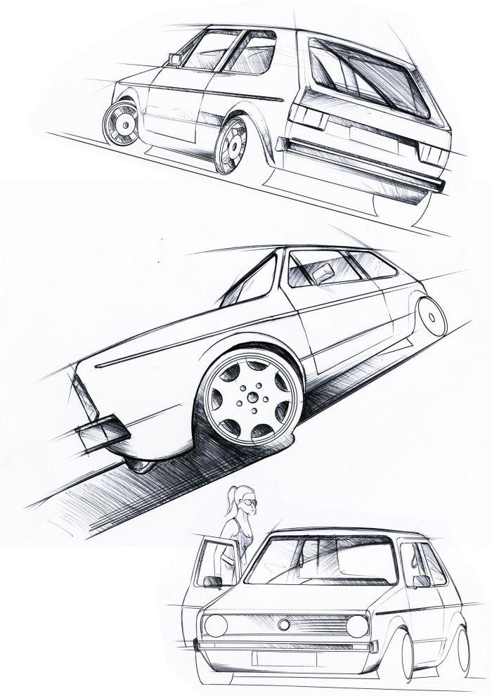 resultado de imagem para vw fox sketch