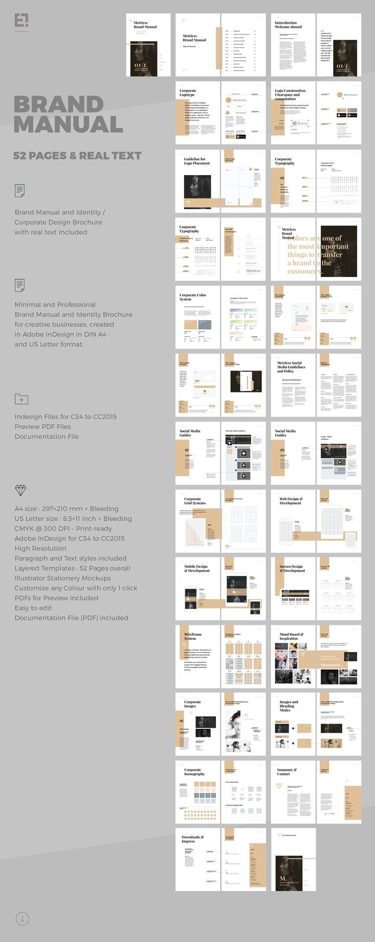 Brand Manual on Behance | Helpful Templates | Pinterest | Diseño ...