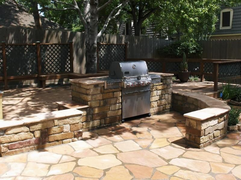 Outdoor Stone Kitchens Amp Backyard Bars In Houston Tx Stevens Landscaping Services Patio Remodel Outdoor Kitchen Outdoor Stone