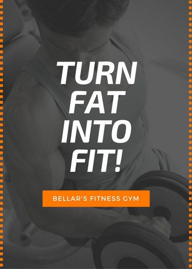 Black Orange Gym Fitness Advertisement Flyer  Gym  Secret Clup