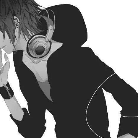 Black And White Headphones Anime Nightcore Anime Desenhos Simples Para Desenhar Desenhos