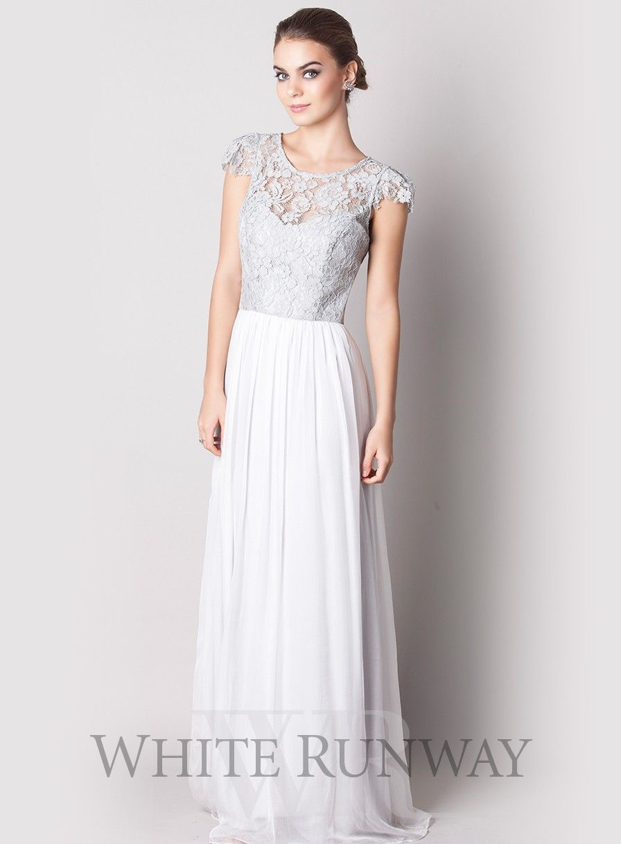 Letitia crochet silk dress a gorgeous full length dress by designer