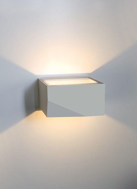 Planlicht Led Aussen Wandlampe Neptun Ip65 Silber Wandlampe Lampen Aussen Lampe