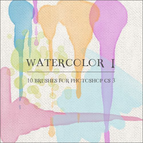 30 Sets of Watercolor Free Brushes for Photoshop | Type | Products I