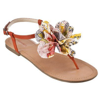 c2110243497cd3 Women s Xhilaration Taryn Flat Sandal with Flower Assorted Colors