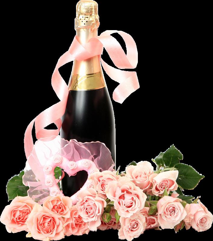 Для мамы, картинки с днем рождения цветы и шампанское