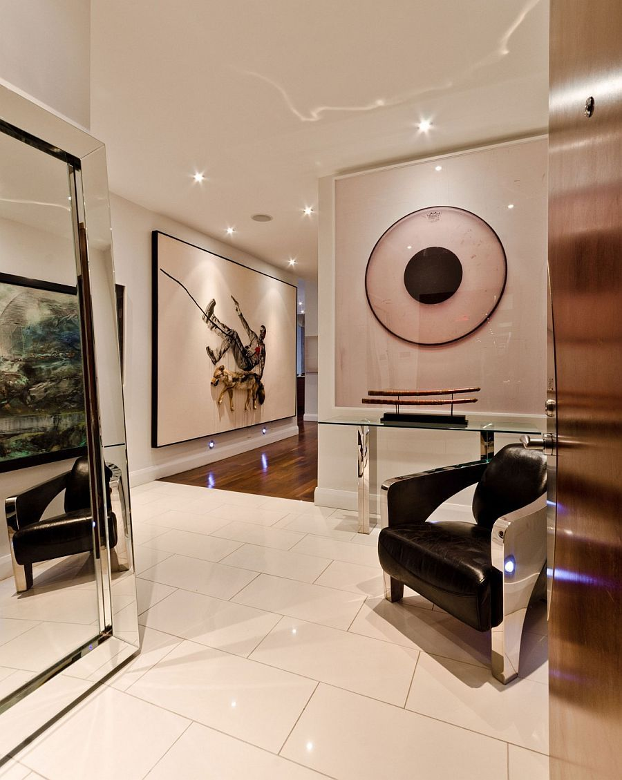 office entrance tips designing. Brilliant Art Collection Of The Homeowner Stands Out Visually In Hallway - Decoist Office Entrance Tips Designing O